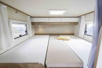 Beige Spannbettlaken Längseinzelbett links oder rechts